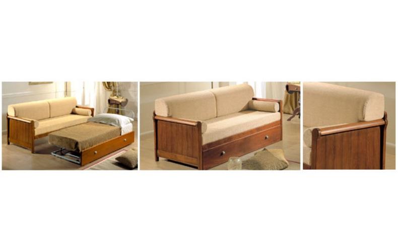 Divano naxos letto divani linea legno divano letto con struttura in legno di faggio - Divano letto country ...