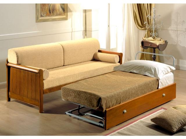Divano naxos letto divani linea legno divano letto - Divani letto rustici in legno ...