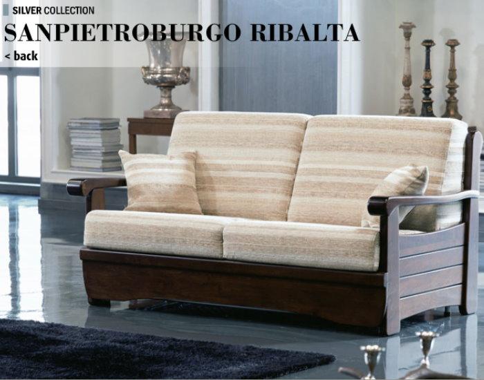 Divano sanpietroburgo ribalta divani linea legno - Divano letto doghe in legno ...